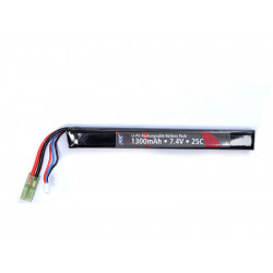 Battery, 7,4V 1300 mAh, LI-PO, single stick