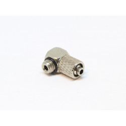 Direct Screwdriving coupling for 6mm hose - right angle - with male thread M6
