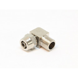 Direct Screwdriving coupling for 6mm hose - right angle - with male thread 1/8NPT