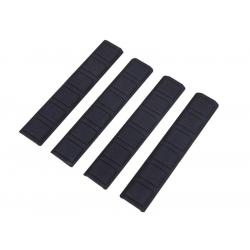 Gumové krytky keymode lišty, 4ks - černé, TYP B