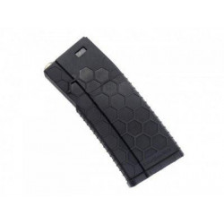 Hexmag style airsoft 120rds magazines for M4 AEG - BLACK