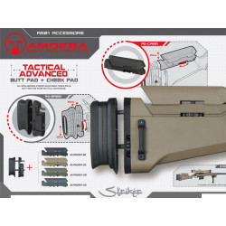 Taktická výsuvná pažba a lícnice pro Amoeba Striker AS01 - černá
