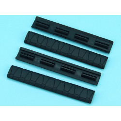 SAI Soft Rail Cover (Black) - 4PCS