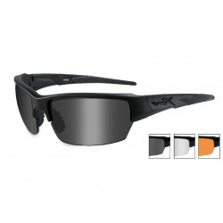 Goggles SAINT Smoke Grey + Clear + Light Rust/Matte Black