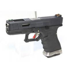 R19 (G003WET-5) Gen4 T5, metal slide, silver barrel, GBB, black