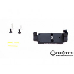 ACE 1 ARMS Fiber Back Up Sight Base for Marui / WE / KJ G-Series Gas BlowBack Pistol ( Black )