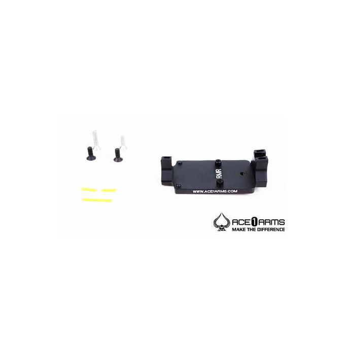 ACE 1 ARMS Fiber Back Up Sight Base for Marui / WE / KJ G-Series Gas BlowBack Pistol ( Black )