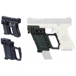 Taktický KIT GB-37 s RIS pro náhradní zásobník pro Glock 17/18/19 - černý