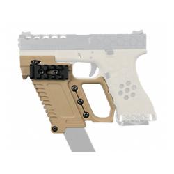 Taktický KIT GB-37 s RIS pro náhradní zásobník pro Glock 17/18/19 - TAN