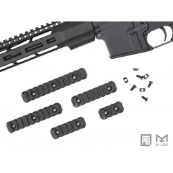 PTS Enhanced Rail Section ( Black / M-LOK / 5 Slots )