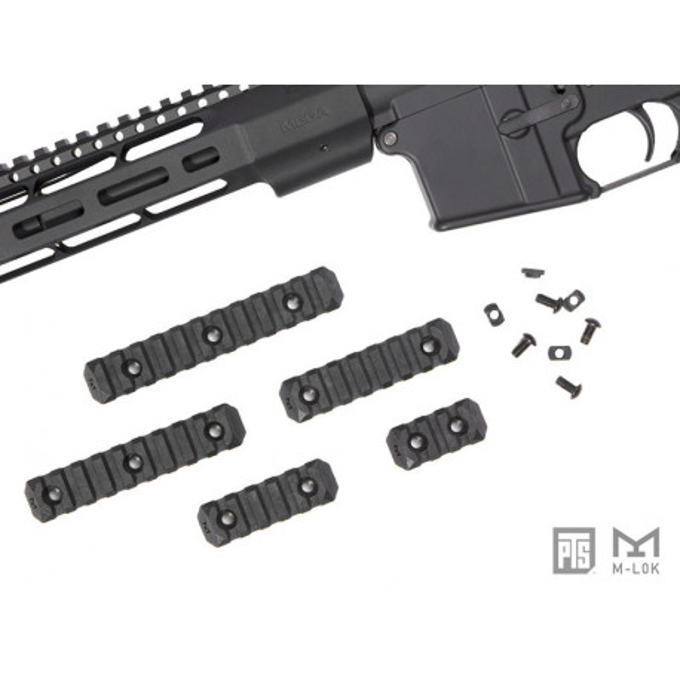 PTS Enhanced Rail Section ( Black / M-LOK / 5 Slots )