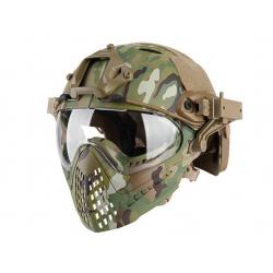 Wosport Pilot Mask ( Fast Helmet Adapter Version / Size M / Multicam )