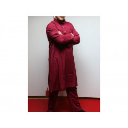 Afghan suit, red, size M
