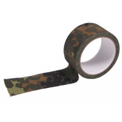 Camouflage tape, waterproof Flecktarn, 450cm