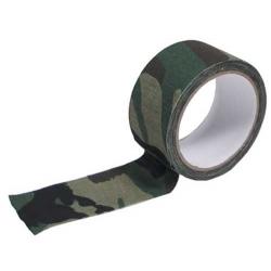 Camouflage tape, waterproof WOODLAND, 450cm