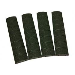 Krytky gumové pro RIS lišty, 4ks - černé