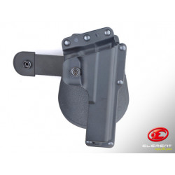 Tactical Rotating Paddle Holster for Glock - Black