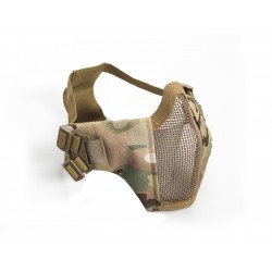 Metal mesh mask with cheek pads, Multicam