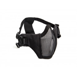 Metal mesh mask with cheek pads, Black
