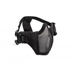 STRIKE Síťovaná ochranná maska s chráničem tváří, černá