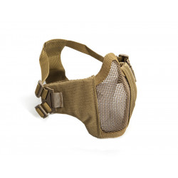 Metal mesh mask with cheek pads, TAN