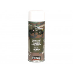 ARMY camouflage paint spray RAL 9010 WHITE