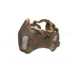 STRIKE Síťovaná ochranná maska s chráničem tváří a uší, multicam