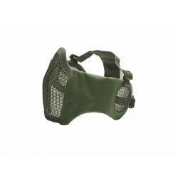 STRIKE Síťovaná ochranná maska s chráničem tváří a uší, olivová