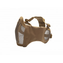 ASG Metal mesh mask with cheek pads and ear protection, Tan