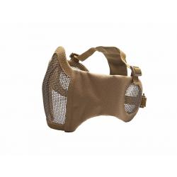 STRIKE Síťovaná ochranná maska s chráničem tváří a uší, písková