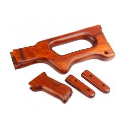 A&K dřevěná pažba a pažbička - set pro PKM AEG