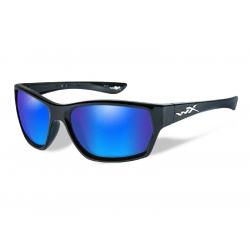 Goggles MOXY Polarized blue mirror green lens/Gloss black frame
