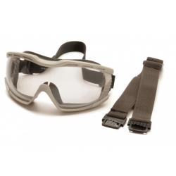 Ochranné brýle Capstone EG604T2, nemlživé - čiré, šedá obruba