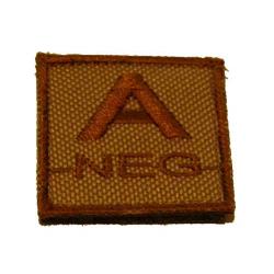 ID. Blood Velcro A-NEG - TAN