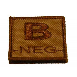 ID. Blood Velcro B-NEG - TAN