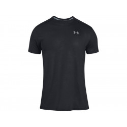 UA Men's Running Short Sleeve Shirt Streaker - BLACK, SIZE XS