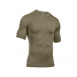 UA Men's Short Sleeve Shirt ColdGear® Infrared Tactical - Federal Tan, SIZE S