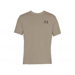Men's Short Sleeve Shirt UA Sportstyle Left Chest - City Khaki, SIZE S