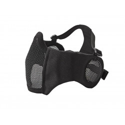 ASG Metal mesh mask with cheek pads and ear protection, BLACK