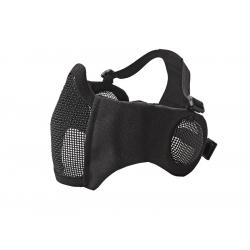 STRIKE Síťovaná ochranná maska s chráničem tváří a uší, černá
