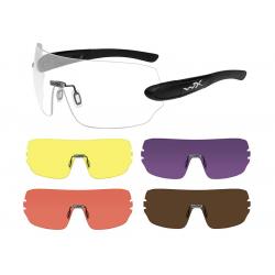 Goggles DETECTION clear/yellow/orange/purple/copper-MATTE BLACK