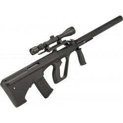 Steyr Aug with silencer (SW-020-BM) - BLACK
