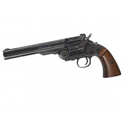 """Schofield 6""""Airgun - Aging BK & Wooden Grip"""