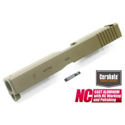 Kovový závěr pro Marui Glock 17 (CERAKOTE FDE)
