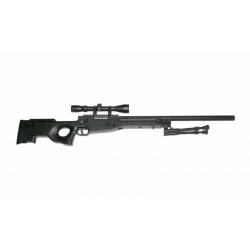 L96 Sniper - černá + dvojnožka + optika