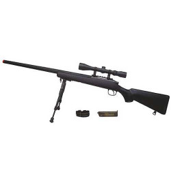 MB03D Sniper + scope and bipod, black
