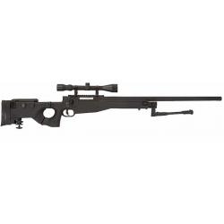 MB08D Sniper + optika + dvojnožka - černá