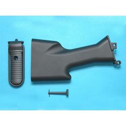 Pevná pažba pro M249, černá (GP427)