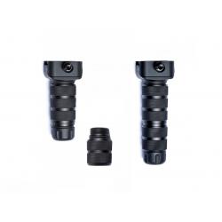 Vertikální kovová nastavitelná rukojeť - černá