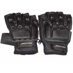 Armour half-finger leather gloves, medium